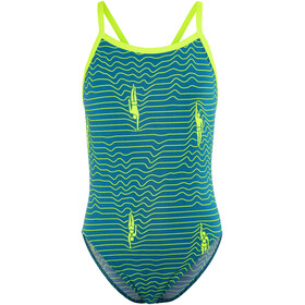 Funkita Single Strap One Piece - Maillot de bain Enfant - Bleu pétrole